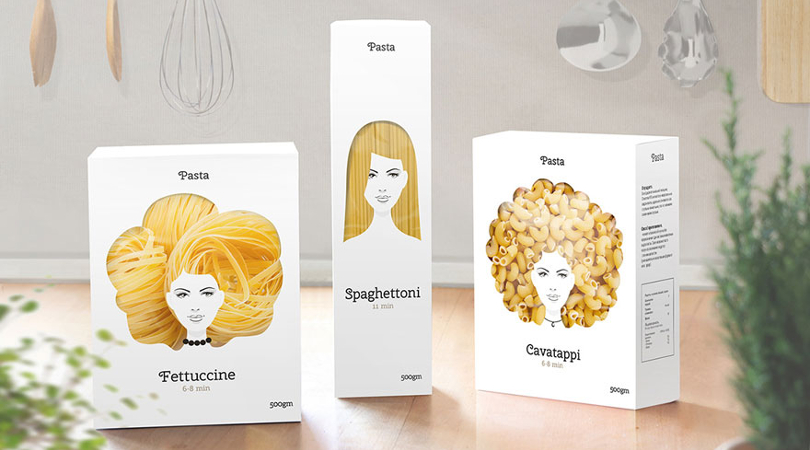 packaging creativo pasta nikita